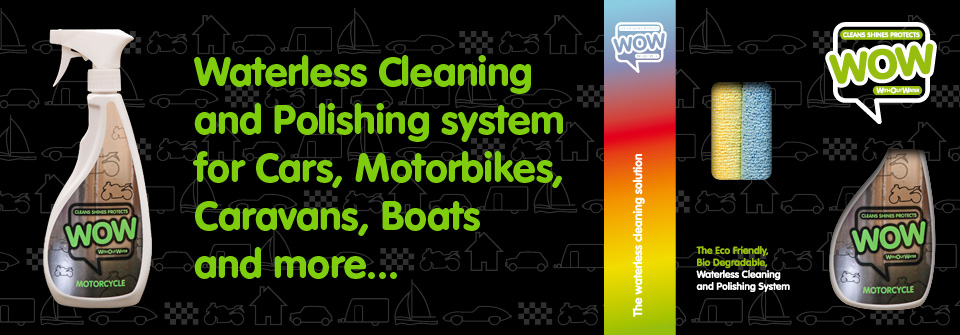 WOW™ Motorcycle and Bike, Waterless Cleaner